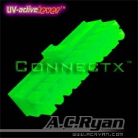 AC Ryan Connectx ATX 24pin Female connector housing, UVGreen