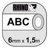 Dymo 6mm Rhino Tape Krimpkous 6mmx1,5m wit 18051