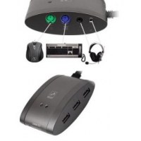A4 Tech Hub master (Combo device with PS/2 ports, 3 port USB 2.0 hub, audio out, microphone in and 7-in-1 flash cardreader)