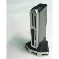 Gembird USB hub with card reader