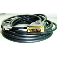 Gembird HDMI to DVI male-male cable with gold-plated connectors, 1.8m, bulk package