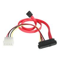 Startech 45 cm SAS 29-Pin naar SATA Kabel met LP4 Voeding