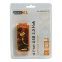 basicXL 4 Poorts Pocket Usb 2.0 Hub