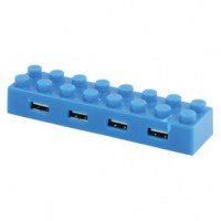 basicXL Usb 2.0 Block Hub Blauw